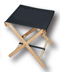 Portable Folding Stool with Backrest